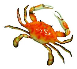 Large 17 Inch Replica Steamed Crab Wall Beach Decor $33.99