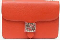GUCCI INTERLOCKING G DOLL SUN ORANGE PURSE BRAND NEW $875.00