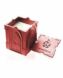 Candellana Candles Candlefort Concrete Candle Gothic Red Metallic Scent: for H