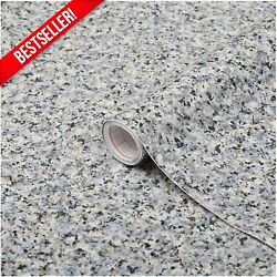 Decorative Gray Granite Marble Contact Paper Countertop Vinyl Self Adhesive Film $19.99