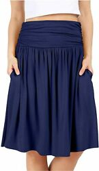Grey Skirts for Women Reg and Plus Size Skirts a Line Knee Blue Size 3.0 swtr $9.99