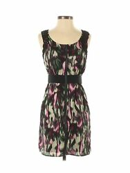 NWT KENSIE Women#x27;s Size Extra Small XS Watercolor Zip Lace Crochet Dress $17.95