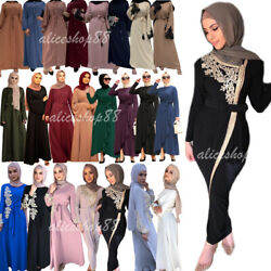 Dubai Abaya Arab Muslim Women Maxi Dress Kaftan Jilbab Islam Party Gown Ramadan C $48.95