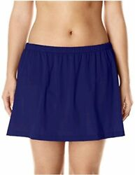 Maxine Of Hollywood Women#x27;s Plus Size Mid Rise Skirted Navy Size 24 Plus Dmsb $13.99