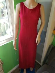 California concepts Sleveless Cocktail Red Dress Size L with shiny glitter $9.00