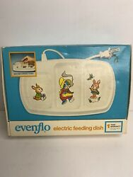 Vintage Evenflo Electric Baby Feeding Dish 2 Heated Portions amp; 1 Cold Works $31.50