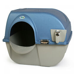 Cat Litter Box Self Cleaning Large Elite Clip Design Chrome Accent Pearl Blue $57.55