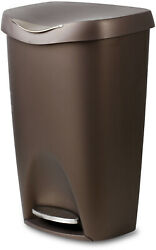 Trash Can 13 Gallon Bronze Stainless Steel With Lid Foot Pedal Kitchen Bin $50.15