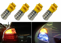 3157 7.5W LED Yellow Amber Front Turn Signal Replace Light Bulbs Lamps D936 $8.99