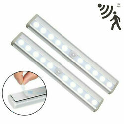 10 LED PIR Motion Sensor Night Light Lamp Battery Operated With Magnetic Strip $7.99