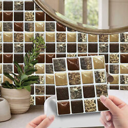 20 Pcs 3D Self Adhesive Mosaic Tile Stickers Kitchen Bathroom Wall Decor US $9.98