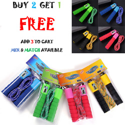 Jump Rope Counter Adjustable For Kids Exercise Bearing Speed Skipping Fitness US $5.48