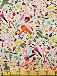 Hair amp; Beauty Items Novelty Cotton Fabric Sold by the 1 2 yard FREE SHIPPING $10.00