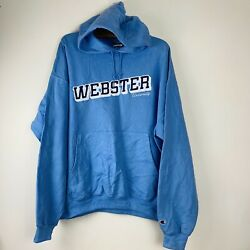 Champion XXL Embroidered Blue Webster University Spell Out Hoodie GBP 19.99