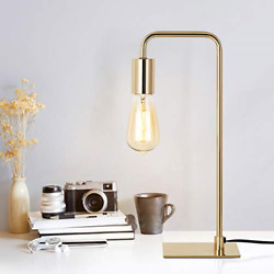 Industrial Desk Lamp Small Nightstand Lamp For Bedroom Bedside Lamp Gold $35.05