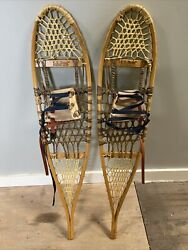 Vintage Collectors LL Bean Snowshoes Oak 10quot; X 46 Made In USA MAINE $129.99