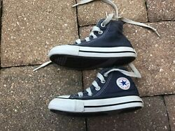 Converse Chuck Taylor All Star Toddler Kids Sneakers Blue amp; White Hi Top Size 6 $12.95