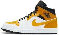 Air Jordan 1 Mid University Gold White Black Yellow 554724 170 $130.00