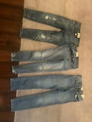 abercrombie kids girls 7 8 Jeans Set Of 3 Pairs $60.00
