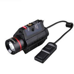 Tactical Flashlight Green Red Laser Sight Combo For 20mm Rail Pistol Rifle $43.39