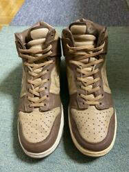 NIKE DUNK HIGH PLUS B Size 10 Medium Brown x British Khaki Men#x27;s Sneakers USED $575.99