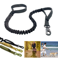 Retractable nylon rope Dog Leash Tactical K9 for large dog Heavy duty coupler US $9.98
