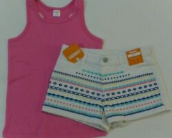 Gymboree Girls 7 8 Outfit Pink Tank Top 7 8 amp; Embroidered Short 8 NEW $19.99