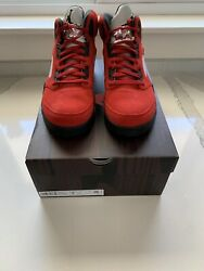 Nike Air Jordan 5 Retro Raging Bull Toro Bravo Red Black Size 9 New