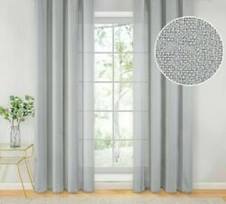 Sheer Linen Weave Curtains Texture Window Treatments Home Modern Decorations New $13.49