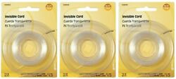 3 Packs HILLMAN Invisible Cord Hobby Wall Picture Hanger Up To 15 lbs 25#x27; Long $7.95