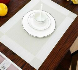 Placemats Pad Table Mats Washable Heat resistant Dining Modern Mat Accessory New $49.29