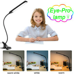 USB Clip on Table Lamp Reading Light Desk Lamp 48 LED Flexible Black Clip Stands $14.71