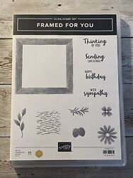 Stampin Up Retired FRAMED FOR YOU Stamp Set Birthday Sympathy NEW $19.00