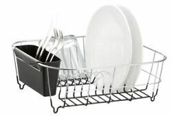 Dish Drying Rack Sink Drainer Kitchen Holder Stainless Steel Small Rustproof New $20.68