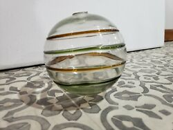 Glass Ball Fishing Float? 5quot; Vintage Antique READ Blown Glass Yard Decorative $13.99