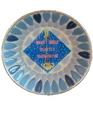 Vintage Space Needle Mid Century Ashtray Souvenir Trinket Dish Mosaic Blue Retro $10.33