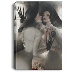 Lady Dimitrescu Resident Evil Village Art Print Posters Canvas Framed Wall Art $34.50