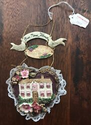 NEW Our New Home Christmas Ornament Heart House