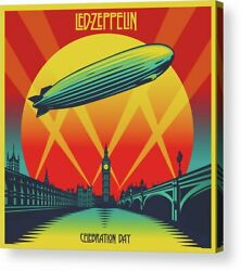 Led Zeppelin Celebration Day Print Poster Canvas Framed Wall Art $30.00