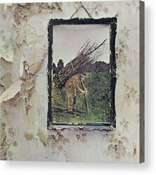 Led Zeppelin IV Remastered Album Cover Print Poster Canvas Framed Wall Art $30.00