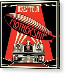 Led Zeppelin Mothership Remastered Print Poster Canvas Framed Wall Art $30.00