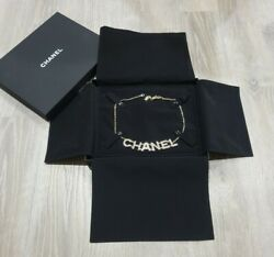 """Chanel Black Jewelry Necklace Gift Box 7.75"""" x 9.75"""" Box amp; Velvet Dust Cover $29.99"""