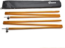 Adjustable Tarp Poles Telescoping Aluminum Tarp and Tent Poles Collapsible for $43.55