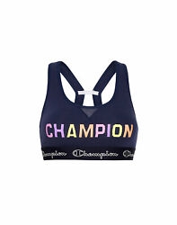 Champion Sports Bra Color Pop Logo The Authentic Moderate Support 2 Layer Wick $15.00