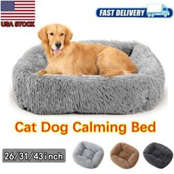 Big Dog Bed Best for Your Dog Orthopedic Long Plush Calming Dog Crate Bed tt $21.38