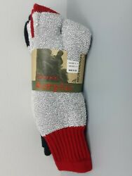 2 Pair High Country Thermal Acrylic Socks Men Sock Size 10 13 Gray Red Black $14.99