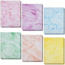 Marble Stationery Paper in 6 Colors Letter Size 8.5 x 11 In 96 Sheets $12.99