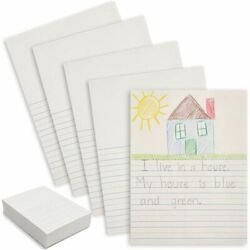 Newsprint Paper with Blue Lines for Handwriting 9 x 12 Inches 500 Sheets $16.99