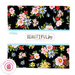 Riley Blake BEAUTIFUL DAY 10quot; STACKER 42 10quot; Square Quilting Fabric ECHO PAPER $47.95