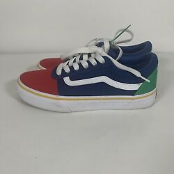VANS #x27;Off the Wall#x27; Kids Size 3 Multi Color Low Top Lace Up Youth Canvas Shoes $21.97